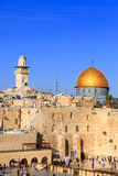 Dome of the Rock and the Western Wall in Jerusalem Royalty Free Stock Photos
