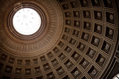 Dome of Roman Pantheon. Close up in a sunny day stock photos