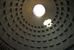 Dome of Rome Pantheon with oculus. Rome, Italy Stock Image