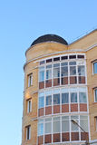 Dome roof and balconies in apartment building Stock Images