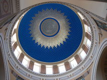 Dome roof of main cemetery chapel in Vienna. Roof ( inside ) of chapel from cemetery in Vienna Royalty Free Stock Image