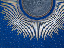 Dome roof of main cemetery chapel in Vienna. Roof ( inside ) of chapel from cemetery in Vienna Stock Photo