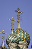 Dome of Russian Orthodox church Royalty Free Stock Photo