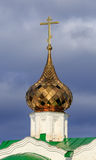 Dome of Russian orthodox church. With gold trim Royalty Free Stock Image