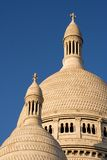 The dome of the Sacre Coeur. Architecture detail of the Sacre Coeur Basilica - Montmartre, Paris, France royalty free stock photography
