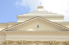 Dome of Saint Anne Church. In the historic center of Warsaw, Poland royalty free stock image