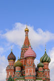 Dome of Saint Basil the great in Moscow Royalty Free Stock Image