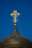 Dome of Saint George Cathedral. Yuryev-Polsky, Vladimir region, Russia. Dome of Saint George Cathedral (1230-1234). Yuryev-Polsky, Vladimir region, Russia royalty free stock photo