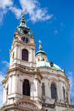 Dome of Saint Nicholas church, Prague Royalty Free Stock Photos