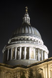 Dome of Saint Paul's, City of London. Nighttime view of the dome of Saint Paul's Cathedral, City of London Royalty Free Stock Images