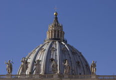 Dome of Saint Peter Basilica Royalty Free Stock Photography