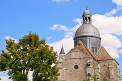 Dome of The Saint-Quiriace Collegiate church Royalty Free Stock Photos