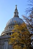 Dome of a Saint´s Paul cathedral in London royalty free stock photography