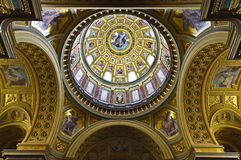 Dome of the Saint Stephen Basilica Stock Image