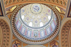 Dome of Saint Stephen's Basilica, Budapest Royalty Free Stock Photo
