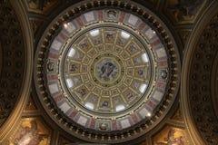 The dome of Saint Stephens Basilica. Saint Stephens Basilica in Budapest, Hungary Royalty Free Stock Photos