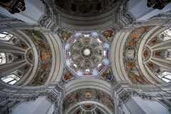 The dome of the Salzburg Cathedral Stock Photography