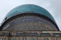 Dome of samarkand. Tiled dome of the bibi khanun mosque in samarkand, uzbekistan stock image