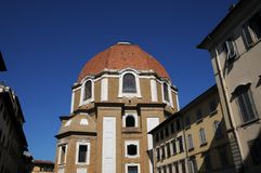 The Dome of San Lorenzo Church in the centre of Florence Royalty Free Stock Photos
