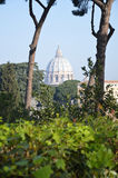Dome of San Pietro Rome. Saint Peter's dome in Rome. Photo taken April 2015 Royalty Free Stock Image