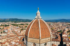 Dome of Santa Marial del Fiore basilica in Florence, Italy Royalty Free Stock Images