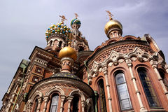 Dome Savior on Spilled Blood. Bright colors Royalty Free Stock Photography