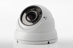 Dome secure camera. On light background, surveillance camera Royalty Free Stock Photo