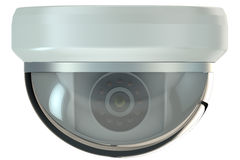 Dome security camera. Isolated on white background stock illustration