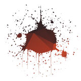 Dome-Shaped Ink Splatter Royalty Free Stock Image