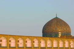 Dome of Sheikh Lotf Allah Mosque. Isfahan, Iran royalty free stock photo