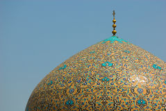 Dome of Sheikh Lotf Allah Mosque. Isfahan, Iran Royalty Free Stock Photography