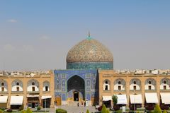 The dome of Sheikh Lotfollah Mosque in Isfahan, Iran stock image