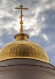 Dome of the side buildings bell tower of the Resurrection Cathedral. In the ancient Russian town of Shuya Stock Photography