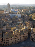 Dome of Siena. And ancient buildings from Magia Tower Royalty Free Stock Photography