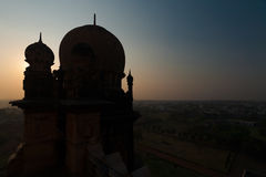 Dome Silhouette Gol Gumbaz Islamic Architecture Royalty Free Stock Image