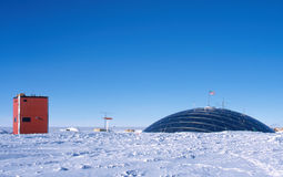 The Dome and Sky Lab. The second station at the South Pole was known as The Dome.  It was built by the US Navy Seabees and commission in 1975 and replaced by the Stock Image