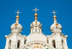 Dome of the Smolny Cathedral Royalty Free Stock Photo