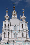 Dome of the Smolny cathedral Stock Photos