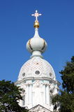 Dome of Smolny Cathedral Royalty Free Stock Images