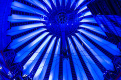 Dome Sony Center on Postadmer Platz to night light. BERLIN - OCTOBER 13: Dome Sony Center on Postadmer Platz to night lighting, the annual 'Festival of Light' Royalty Free Stock Images