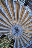 Dome of the Sony Center. The roof of the Sony center in Berlin Royalty Free Stock Images