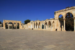 Dome of the Spirits along the square on the Temple Mount Royalty Free Stock Photo