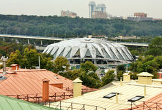 Dome of the sports complex, view from above Royalty Free Stock Images