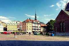 Dome Square in Riga on a summer day Stock Photos