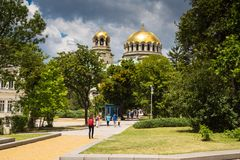 Dome of St. Alexander Nevski Cathedral in Sofia Royalty Free Stock Images