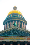 Dome of St. Isaac's Cathedral in Petersburg Stock Images