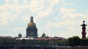 Dome of St. Isaac`s Cathedral, Rostral Column stock video