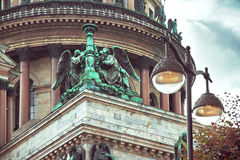 Dome of St. Isaac`s Cathedral in Saint-Petersburg, Royalty Free Stock Images
