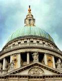The Dome of St Paul`s Cathedral. Royalty Free Stock Images