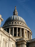 Dome of the St Paul's Cathedral, London Royalty Free Stock Photo